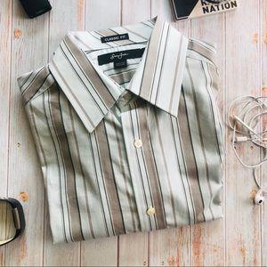 Sean Jean Men's Striped Dress Shirt NWT A36